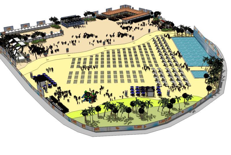 Sztuczna plaża w Portugalii (inovarmangualde.com)