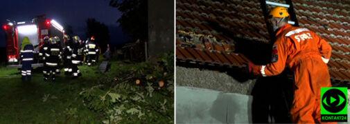 Połamane konary, zniszczone dachy. Piątkowe burze się rozszalały