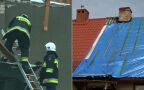 Zniszczenia po burzach w Rakowcu koło Kwidzyna