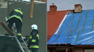 Wiatr zrywał dachy, przewracał drzewa. Skutki niszczycielskich burz